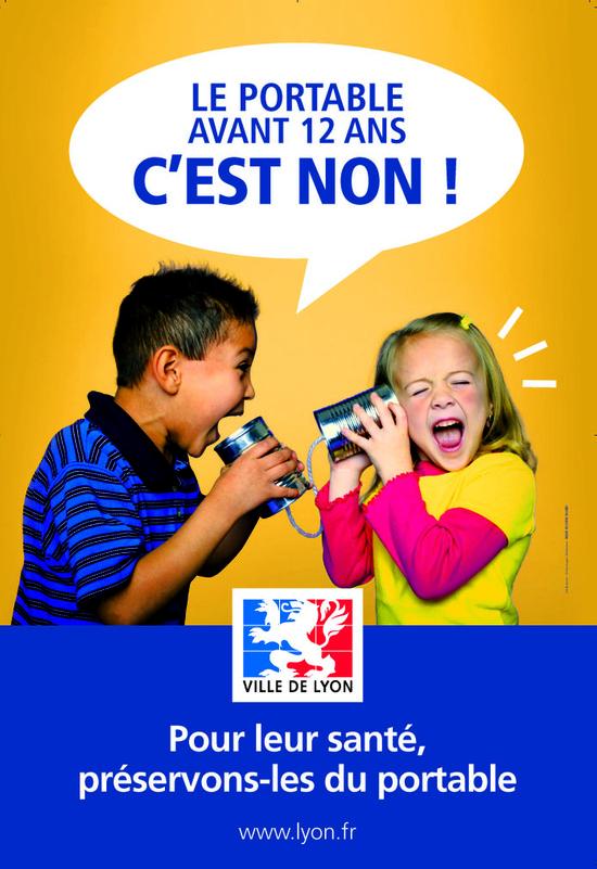 Campagne de prévention concernant l'utilisation du téléphone portable par les jeunes enfants