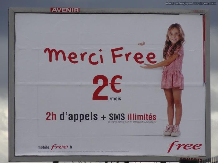 Campagne publicitaire de l'operateur Free pour son forfait 2€