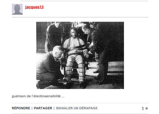 R ponse d un lectrosensible des pseudos journalistes l 39 errance d 39 un lectrosensible - Execution chaise electrique ...